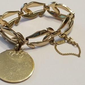 Monet Gold Charm Bracelet